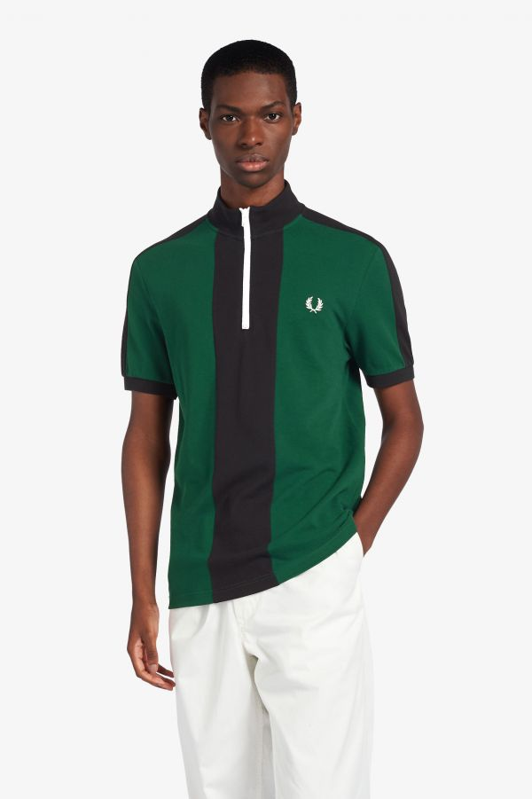 Vertical Panel Polo Shirt