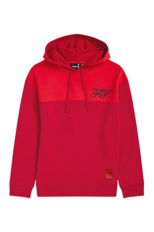 Raf Simons Embroidered Hooded Sweatshirt