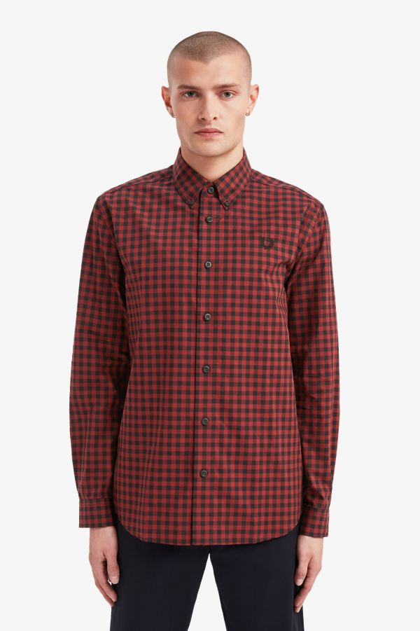 Two Colour Gingham Shirt