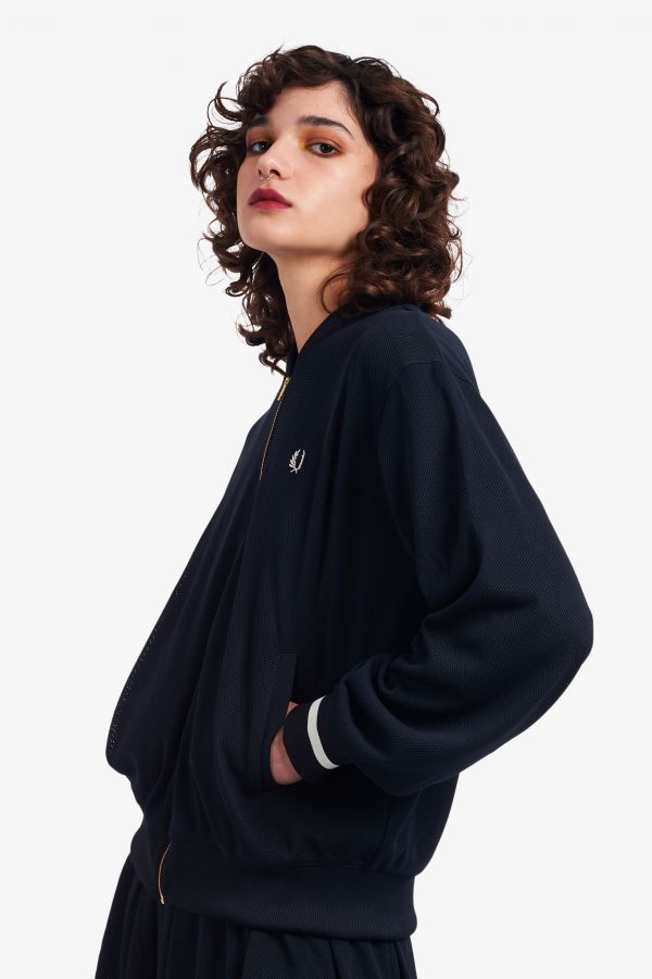 Mesh Tennis Bomber Jacket