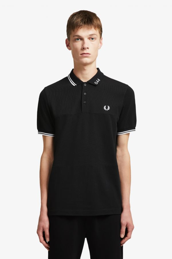 Made Thought 5-4-4 Panel Print Polo Shirt