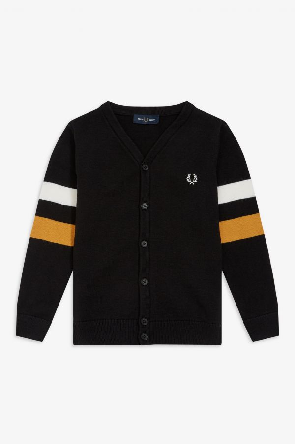 Kids Tipped Sleeve Cardigan