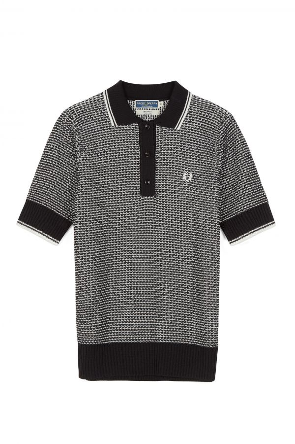 Reissues Two Tone Textured Knitted Shirt