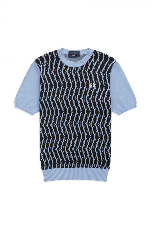 Reissues Short Sleeve Jacquard Knit Jumper
