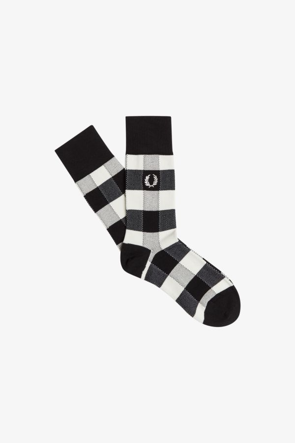 Tonal Check Socks