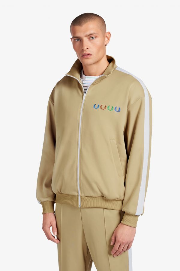 Beams Laurel Wreath Patch Track Jacket