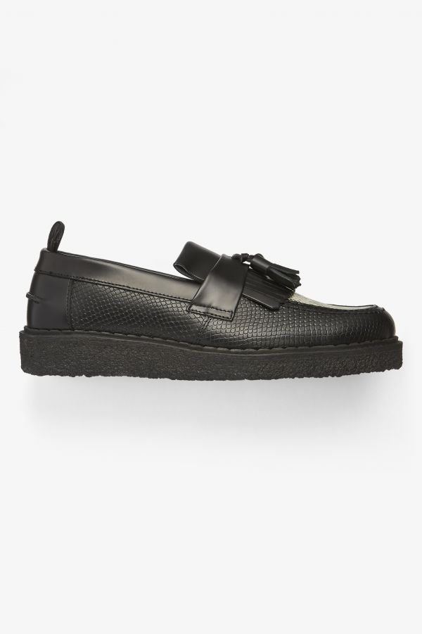 Embossed Tassel Loafer