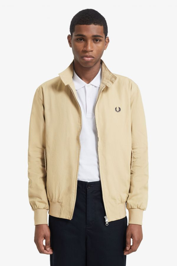 Check Lined Harrington Jacket