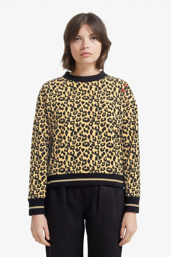 Amy Winehouse Sudadera con estampado de leopardo