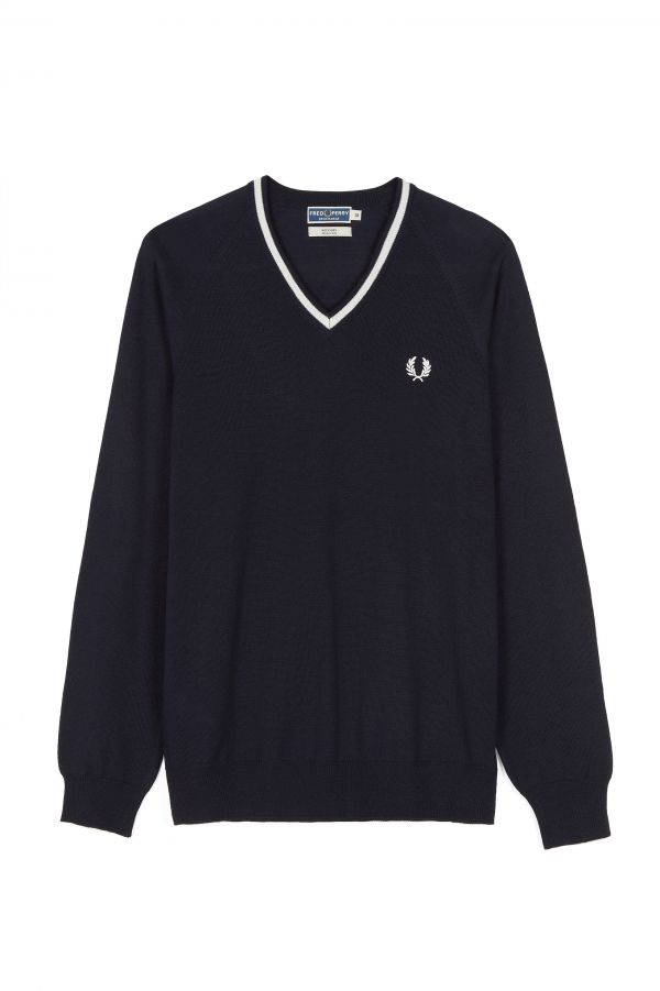 Reissues Single Tipped V-Neck Jumper