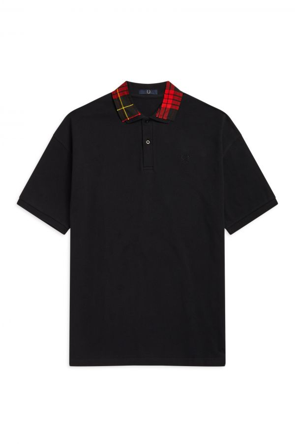 Laurel Wreath Cut-Away Collar Polo Shirt