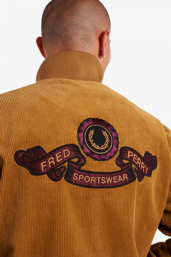 Embroidered Corduroy Track Jacket