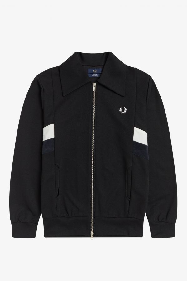 Towelling Stripe Track Jacket