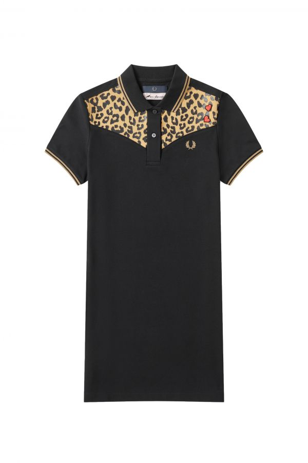 Amy Winehouse Leopard Print Piqué Dress