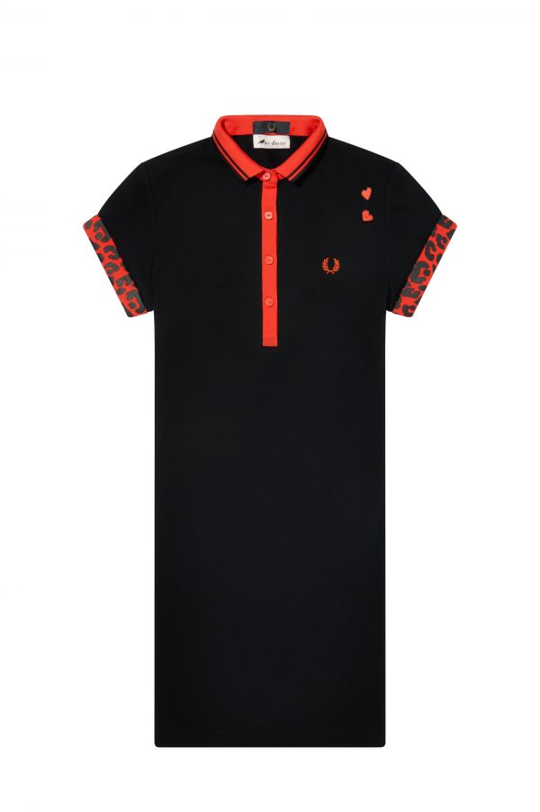 Tipped Piqué Shirt Dress