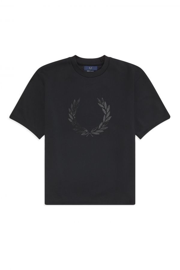 Laurel Wreath T-Shirt mit Print, Made in Japan