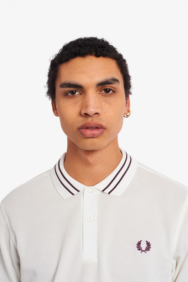 Textured Panel Polo Shirt