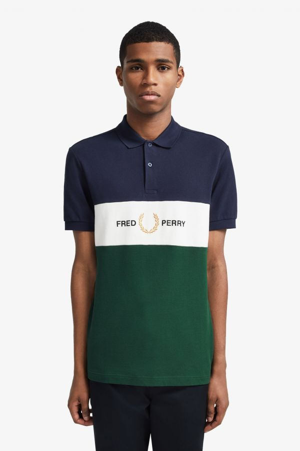 Embroidered Panel Polo Shirt