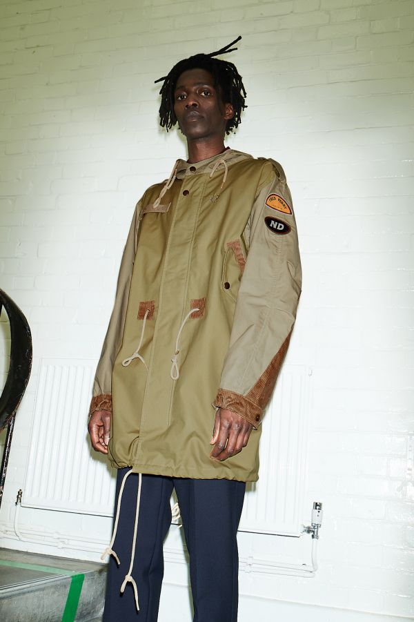 Waxed Patch Detail Parka