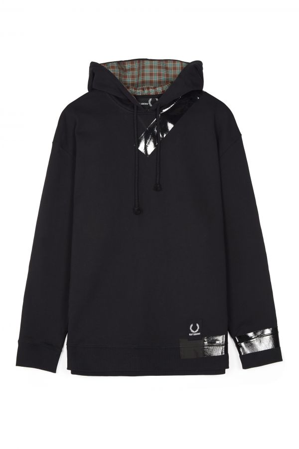 Raf Simons Taped Hooded Sweatshirt