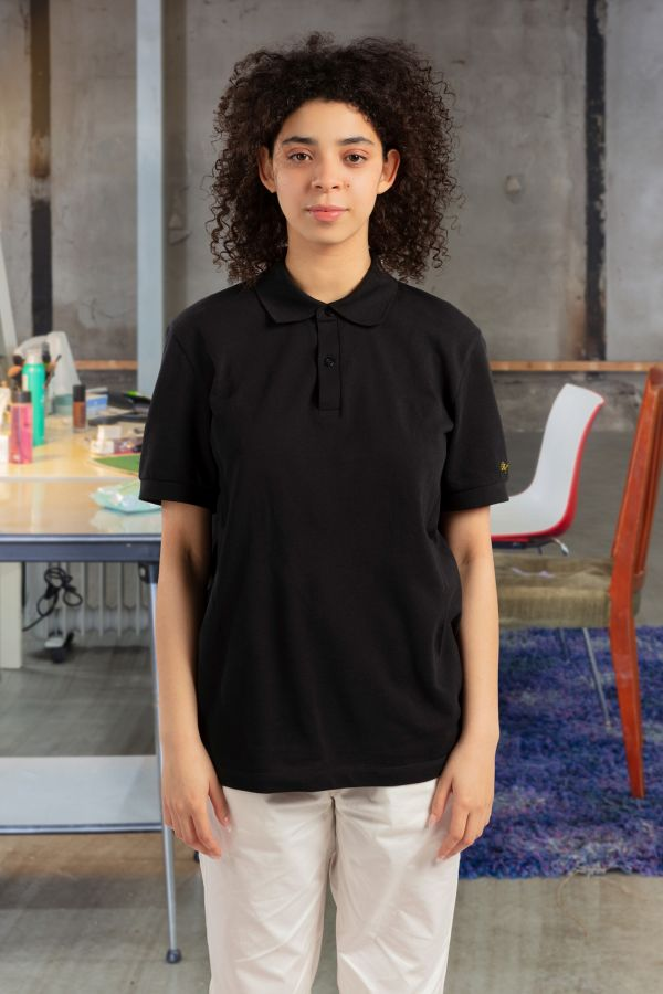 Raf Simons Embroidered Sleeve Polo Shirt