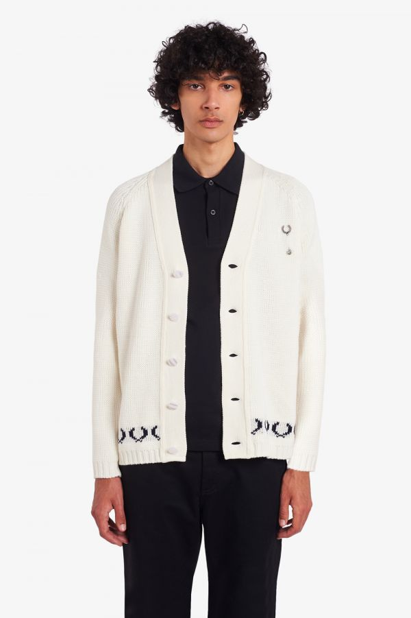 Raf Simons Laurel Wreath Knitted Cardigan