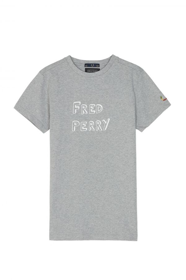 Camiseta Con Estampado «Fred Perry» Bella Freud