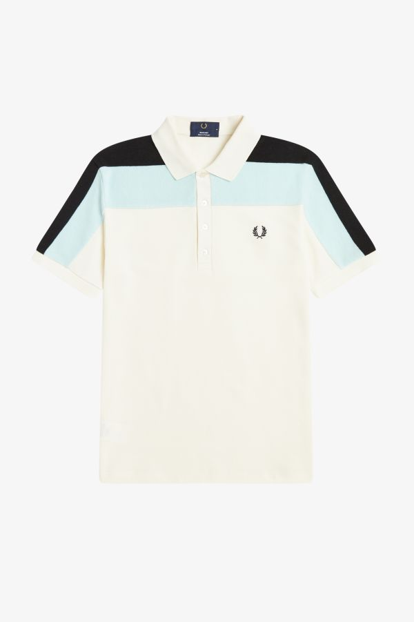 Towelling Panel Polo Shirt