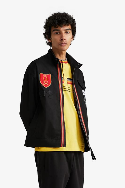 Blouson Harrington à écusson bouclier