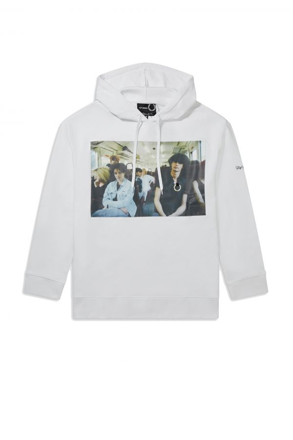 Raf Simons Chest Print Hooded Sweatshirt