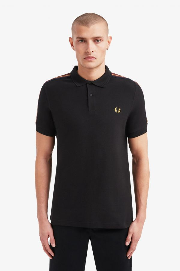 Taped Shoulder Polo Shirt