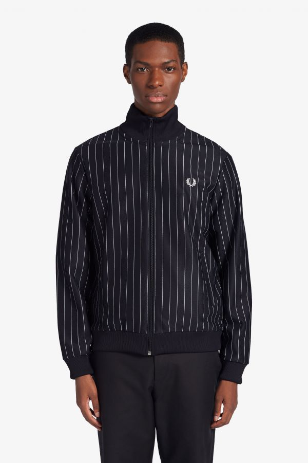 Pin-Stripe Track Jacket