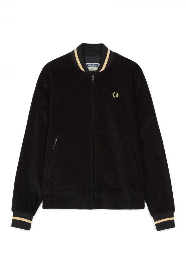 Reissues Tennis-Bomberjacke aus Cord. Made in England.