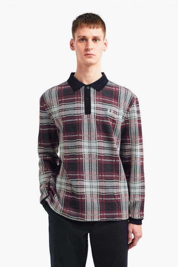 Jacquard Check Polo Shirt