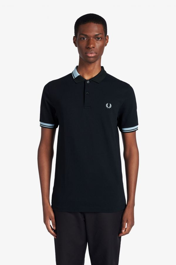 Abstract Collar Polo Shirt