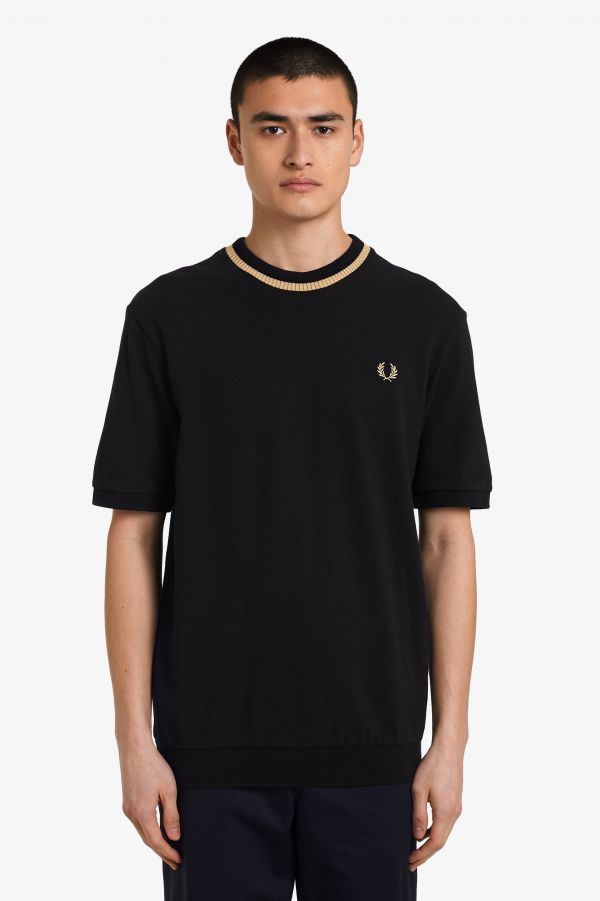 Made In England Crew Neck Pique T-Shirt