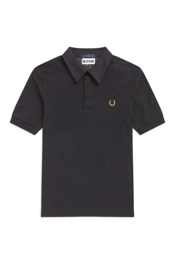 Miles Kane Liberty Print Trim Polo Shirt