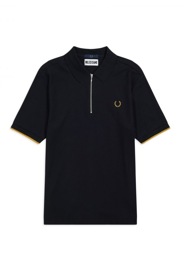 Miles Kane Zip Detail Polo Shirt