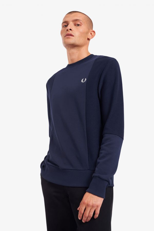 Tonal Panel Sweatshirt