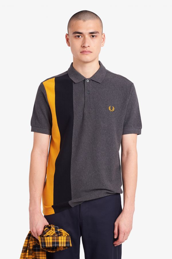 Side Panel Striped Polo Shirt
