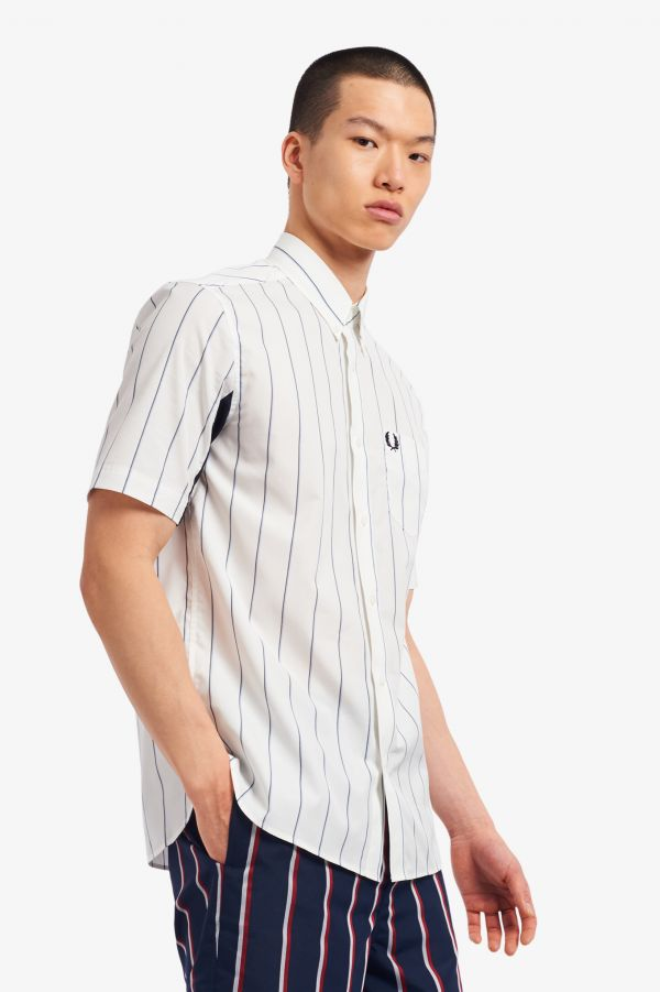 Fine Stripe Short Sleeve Shirt