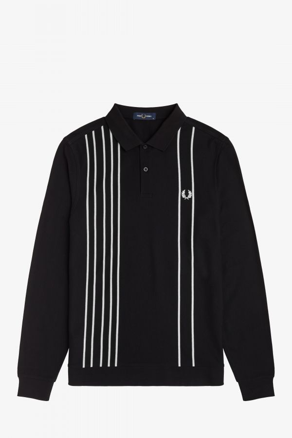 Striped Refined Piqué Polo Shirt