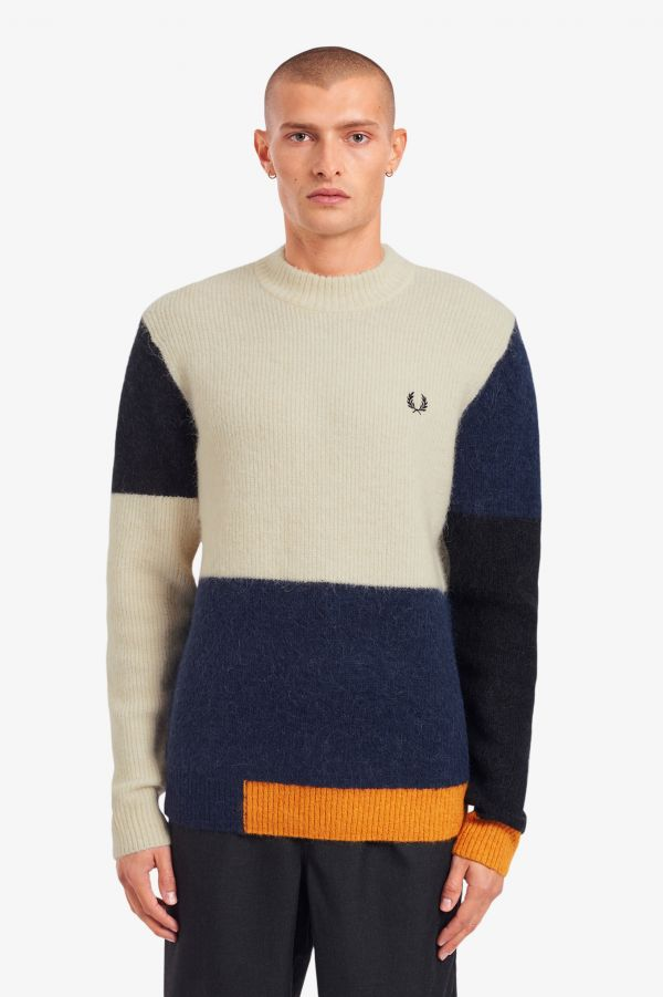 Colour Block Alpaca Jumper