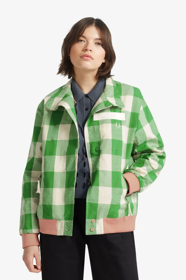 Akane Utsunomiya Check Harrington Jacket