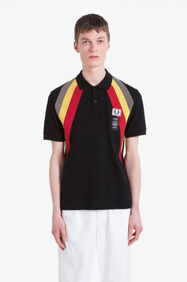 Art Comes First Diagonal Rib Polo Shirt