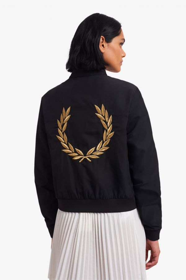 Chaqueta Harrington de satén