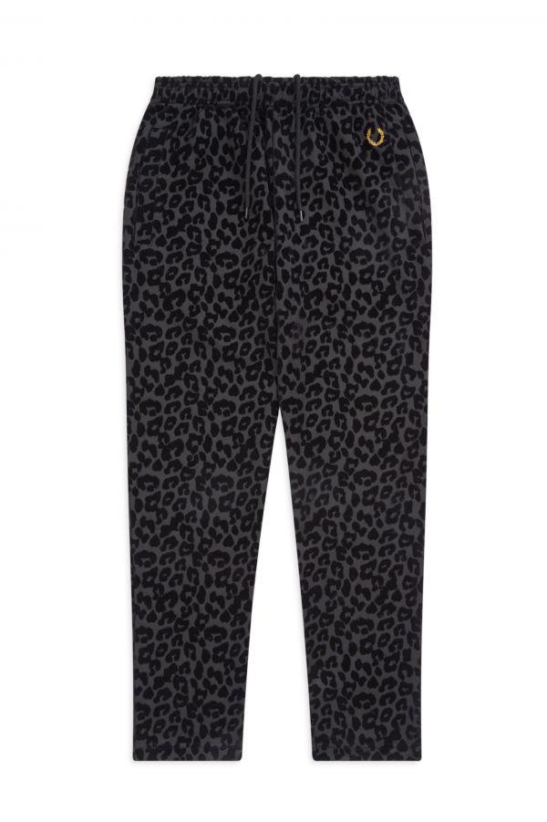 Miles Kane Pantalón de chándal con estampado de leopardo con textura