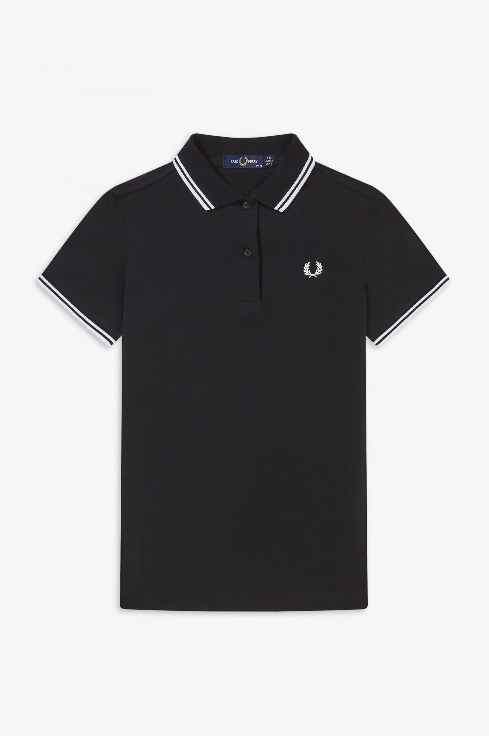 Fred Perry polo señora Negro//Amarillo g9762 506 6066