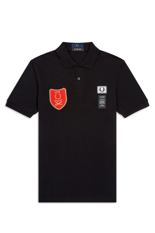 Art Comes First Shield Patch Polo Shirt