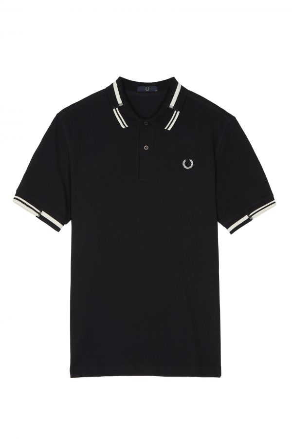Laurel Wreath Split Collar Piqué Polo Shirt